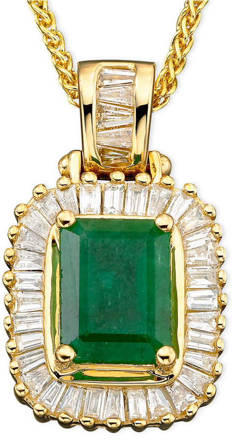 Effy Brasilica by Emerald (1-3/8 ct. t.w.) and Diamond (1/2 ct. t.w.) in 14k Gold