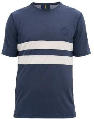 Iffley Road Cambrian Striped Pique T-shirt - Mens - Navy Multi