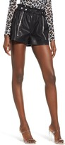 Blank NYC Blanknyc Paperbag Waist Faux Leather Shorts