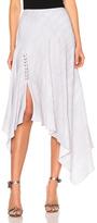 Prabal Gurung Print Cady Handkerchief Hem Skirt in Gray.
