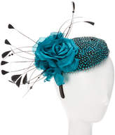 Giovannio Couture Teal Wool Fascinator