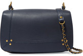 Jerome Dreyfuss Bobi Textured-leather Shoulder Bag - Navy