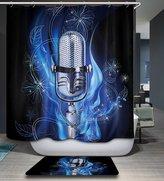 Shine SUN-Cartoon Animal Decor Waterproof And Mildew Polyester Shower Curtain With 2 Hooks