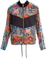Versace Jeans Flower Print & Logo Tape Track Jacket