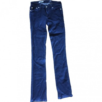 AG Adriano Goldschmied Navy Cotton - elasthane Jeans for Women