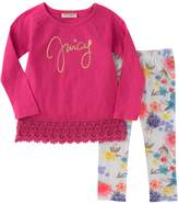 Juicy Couture Lace Top & Leggings Set