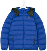 Armani Junior hooded padded jacket - kids - Feather Down/Polyamide/Polyester/Polyamide-8 - 14 yrs