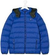 Armani Junior hooded padded jacket