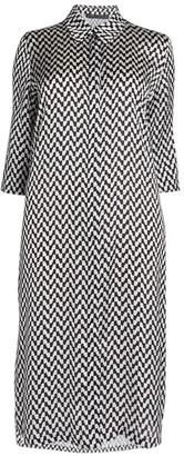 Marina Rinaldi Chevron Print Shirt Dress