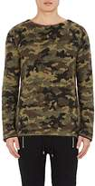 Balmain Men's Camouflage Mohair-Blend Crewneck Sweater
