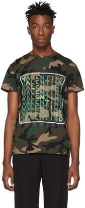 Valentino Khaki Camo Logo T-Shirt