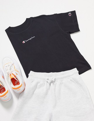 Champion oversized cropped small logo t-shirt in black