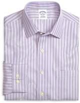 Brooks Brothers Supima® Cotton Non-Iron Slim Fit Lavender Stripe Twill Sport Shirt