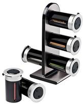 Zevro Zero Gravity Countertop 6 Canister Magnetic Spice Stand - Black