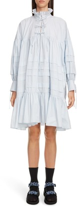 Cecilie Bahnsen Macy Pleated Long Sleeve Shirtdress