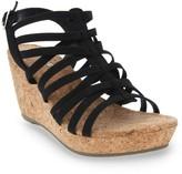 Rampage Womens Josie Open Toe Platform Cork Wedge Sandal