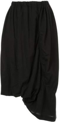 Y's gathered midi skirt