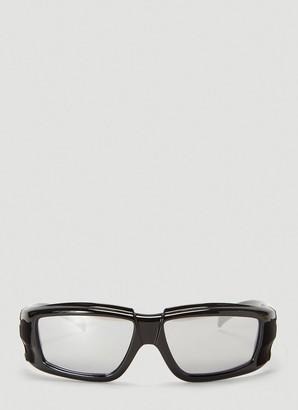 Rick Owens Mirrored Rectangular Sunglasses