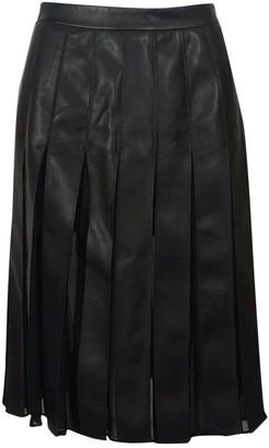 Diane von Furstenberg Black Leather Skirt for Women