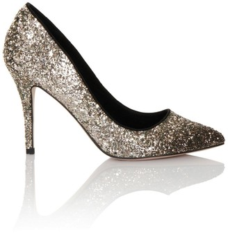 Little Mistress Ombre Gold/ Black Glitter Court
