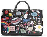Anya Hindmarch Ebury Maxi All Over Stickers Leather Tote - Black