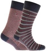 Tommy Hilfiger 2 Pack Three Tone Socks Blue