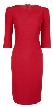 Dorothy Perkins Womens Red Puff Sleeve Shift Dress, Red
