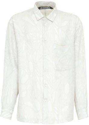 Jacquemus Floral Viscose & Silk Jacquard Shirt