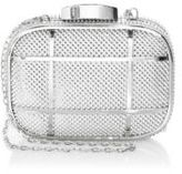 Whiting & Davis W and D Gunmetal Cage Minaudiere