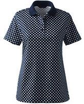 Classic Women's Pima Polo Shirt-Washed Vintage Indigo