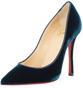 Christian Louboutin Decoltish Velvet Red Sole Pump