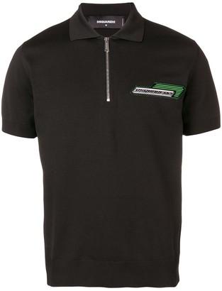 DSQUARED2 Half Zip Polo Shirt