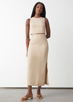 Thumbnail for your product : And other stories Belted Silk Midi Skirt