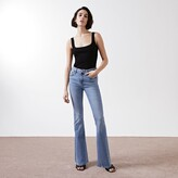 Thumbnail for your product : River Island Womens Blue mid rise flare jeans