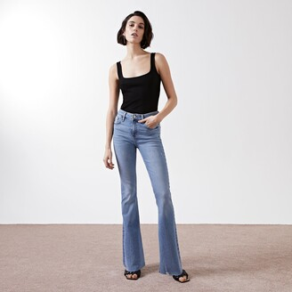 River Island Womens Blue mid rise flare jeans