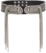 Christopher Kane Chain-embellished Leather Belt - Womens - Silver