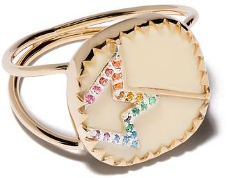 Pascale Monvoisin 9kt yellow gold diamond Varda N2 ring