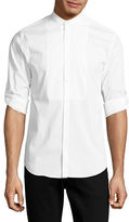 Highline Collective Band Collar with Roll-Up Sleeve Sport Shirt