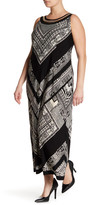 Sandra Darren Printed Sleeveless Maxi Dress (Plus Size)