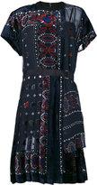 Sacai patterned dress - women - Cupro - 2