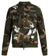 Valentino Camouflage-print Cotton Bomber Jacket