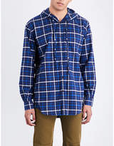 Balenciaga Hooded Checked Regular-fit Flannel Shirt