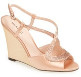Menbur Women's 'Tunder' Satin Wedge Sandal