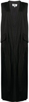 MM6 MAISON MARGIELA V-neck sleeveless shift dress