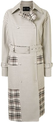 Proenza Schouler Windowpane Belted Trench Coat