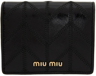Miu Miu Black Quilted Bifold Wallet