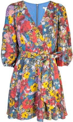 Alice + Olivia Kerri Bishop blossom wrap dress