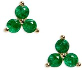 Ef Collection Women's Trio Precious Stone Stud Earrings