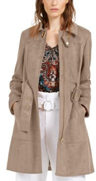 INC International Concepts I.n.c. Faux-Suede Trench Coat, Created For Macy's