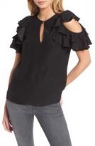 Parker Women's Brandie Cold Shoulder Silk Top